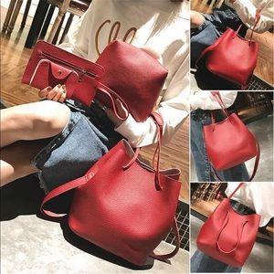 Gorgeous Leather Handbag 3 piece set